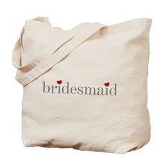 Gray Text Bridesmaid Tote Bag> Gray Text Bridesmaid> peacockcards.com