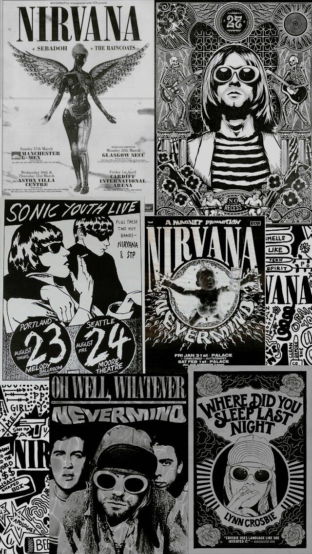 nirvana music wallpaper Papeis de parede rock