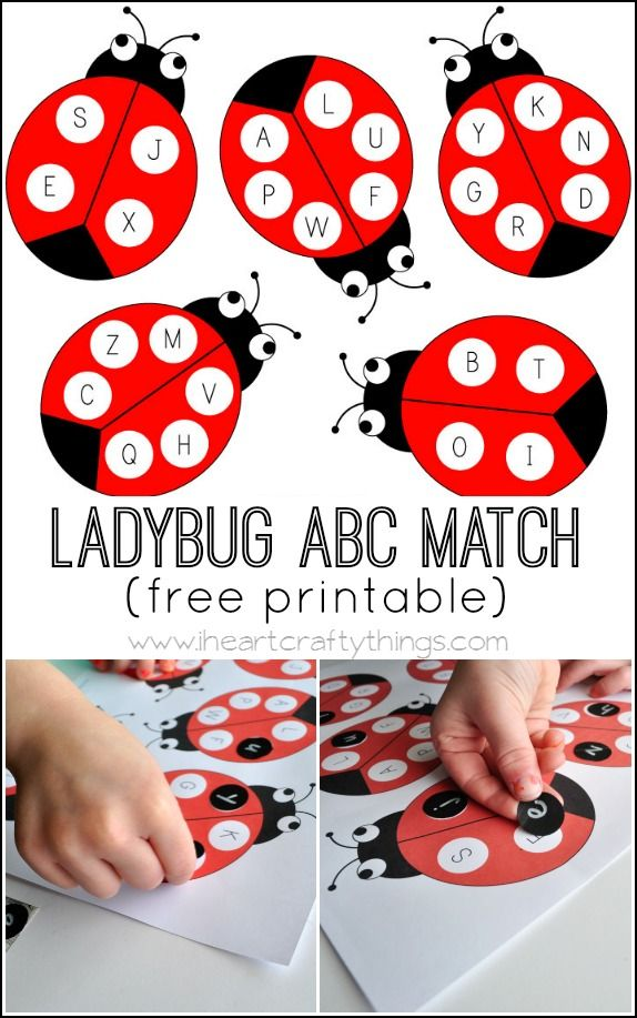 Practice matching uppercase and lowercase letters with this Ladybug Alphabet…
