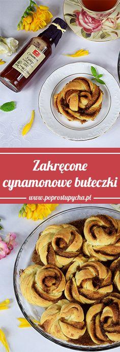 Zakręcone cynamonowe bułeczki <3 Ciasto wychodzi mięciutkie, a dodatkowo pięknie pachnie cynamonem dzięki dodatkowi pysznego syropu cynamonowego ETERNO :)
