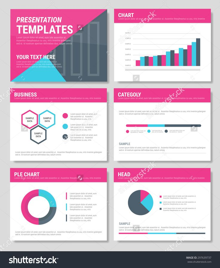 Business Presentation Templates And Infographics Vector Elements ...