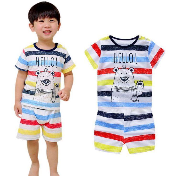2017 kinderkleding Set Cartoon T-shirt + shorts 2 Set Baby Jongen Pak Set Kids korte Mouw Katoen 3 M-3 T #Affiliate