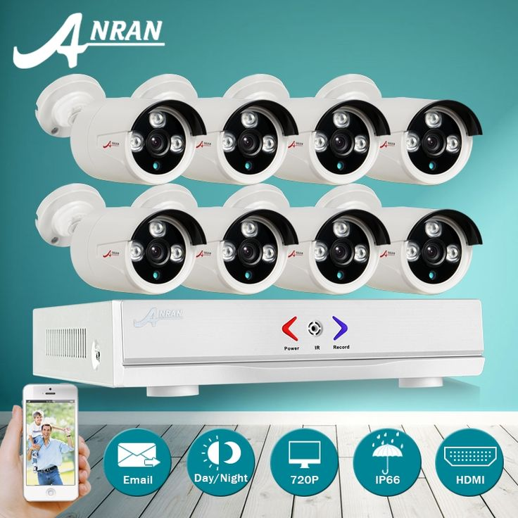 204.59$  Watch here - http://aiez0.worlditems.win/all/product.php?id=32757511053 - ANRAN 8CH 1080N DVR Kit 1800TVL 720P HD Outdoor Home Security Camera System 8CH CCTV Video Surveillance DVR Kit AHD Camera Set