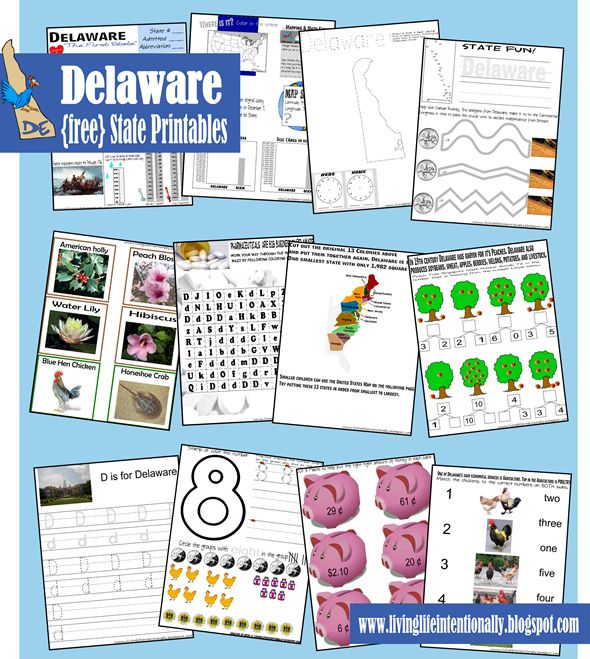 free delaware state printables from living life intentionally - State Printables