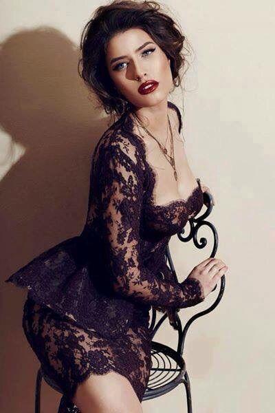 Gorgeous romanian model, Alice Peneaca, wearing Cristina Savulescu dress