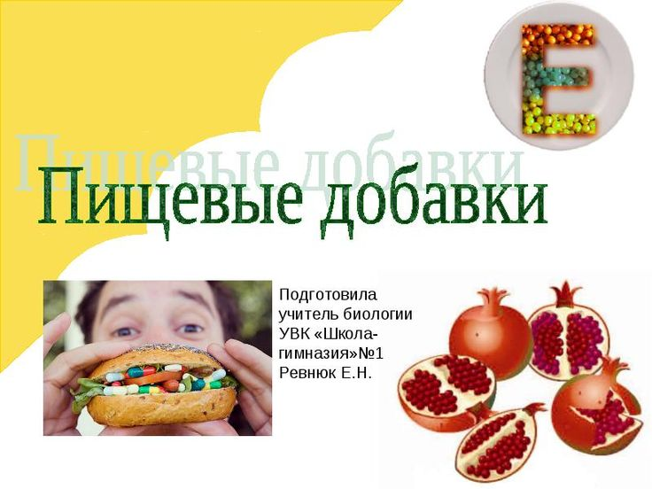 Пищевые-добавки-учитель-биологии-Ревнюк-Е. Н