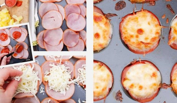Mini Hawai pizzy bez mouky