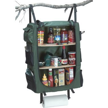 A little pricey at $59.99, but it would work well with the Cabela's camp kitchen and you wouldn't need a tree to hang it.