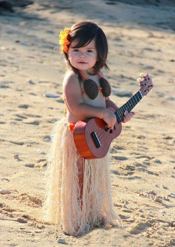 Baby Girl or Toddler Hawaiian HULA Dancer Island by pixieharmony, $59.95