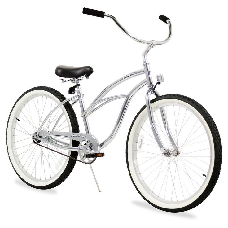 "26"" Firmstrong Urban Lady Single Speed Women's Beach Cruiser Bike, Chrome"