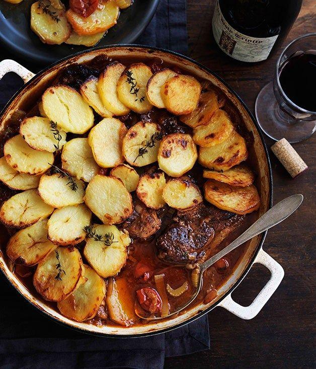Lamb and potato hotpot.