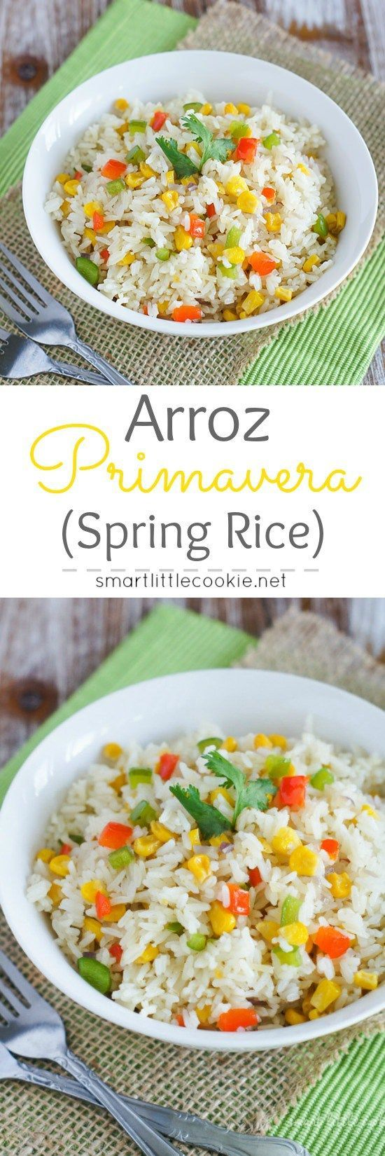 Arroz Primavera (Spring Rice) ~ Colorful vegetables mixed in delicious white…