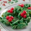Melt-in-Your-Mouth Wreath Treats | mrfood.com: Cookies Bar Cookies, Fun Treat, Cookies Bars, Cookies 10 14, Wreath Treats, Christmas Treats, Christmas Food Drinks