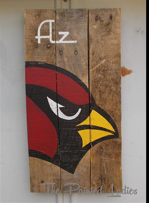Arizona Cardinals Bird Hand Painted on by ThePaintedLadiesLoft, $50.00