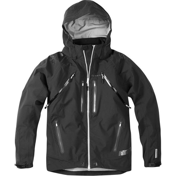Addict men's 3-Layer waterproof storm jacket, black medium