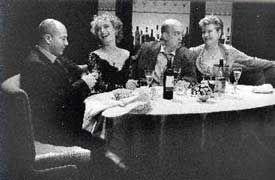 "Keith Allen, Lindsay Duncan, Andy de la Tour and Susan Wooldridge in ""Celebration"" by Harold Pinter, Almeida Theatre, London, March 2000"