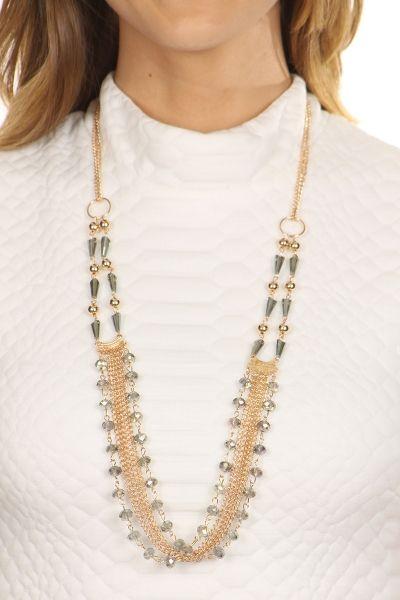Tweela | Jewelry | Multi Chain Swarovski Necklace | 1558111224