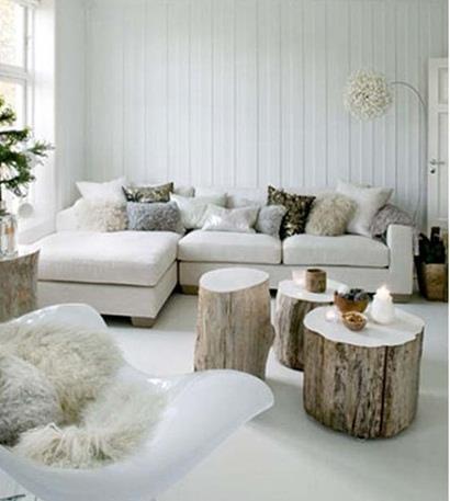 Mirad solo con unos troncos que bonito puede quedar nuestro salón. Os gusta? — con Cristina Pini Gonzalez.