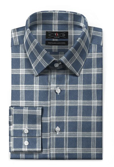 Blue flannel checked Shirt http://www.tailor4less.com/en-us/men/shirts/4405-blue-flannel-checked-shirt
