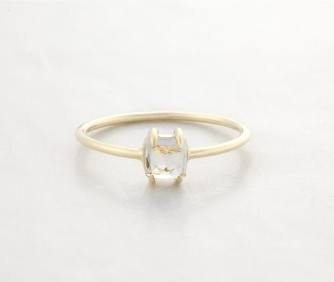 Image of Sally: Stardust Ring w. White Quartz