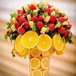 Splendide composizioni di frutta.