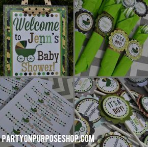 Hunting Themed Baby Shower images | Baby Shower Week: Camouflage Baby Shower | Party on Purpose