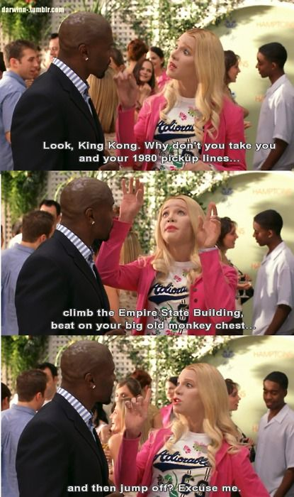 Ah White Chicks ... I love this movie! Now, I'm singing that damn song... LOL  Makin' my way downtown....