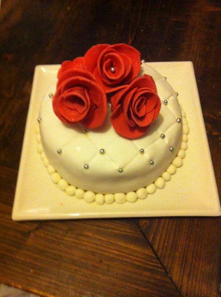 Witte chocolade Rozen taart #sannascookery
