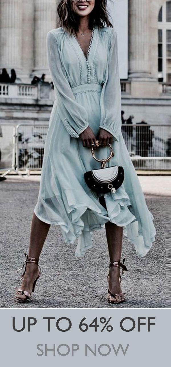 Hot Sale Elegant Maxi Dress For Woman #Dress #Autumn #Outfits