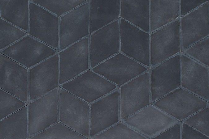 cement flise fra Marokko - sort diamant <3