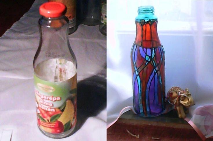 juice bottle in oriental style