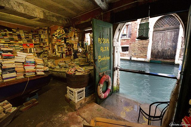 "Libreria Acqua Alta - ""One of the most original libraries in the world is located in Venice. Libreria Acqua Alta, in Calle Lunga Santa Maria Formosa...just a few steps from St Mark's Square."" - (Frizzo [n.d.])"