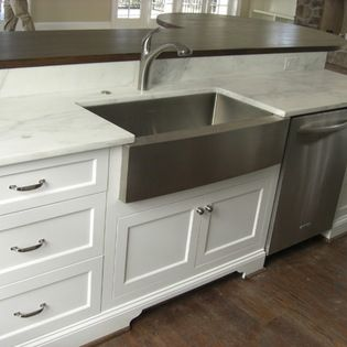 Stainless Steel Apron Sink with marble, sign me up.