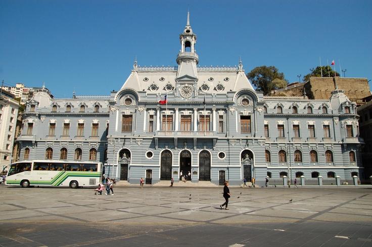 The Navy Building at Plaza Sotomayor, Valparaiso, Chile
