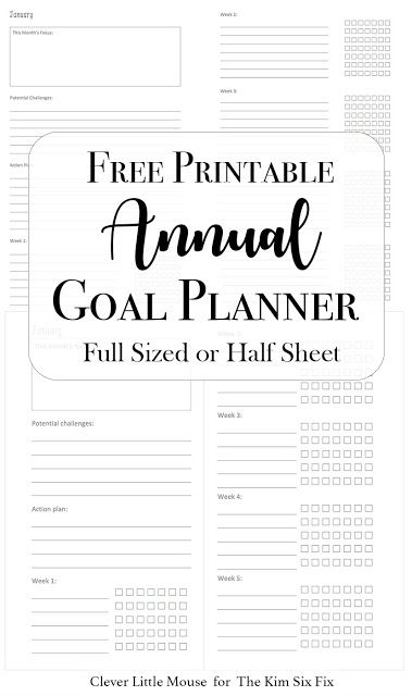 2017 goal planner printables to help you stay on track hometalk