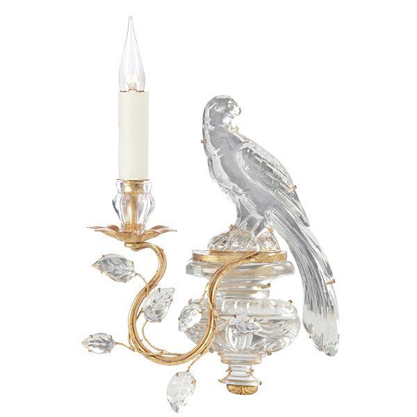 Classic Baguès Parrot Sconces available through AndreaFisherDesign.com  #sconces #frenchlighting #maisonbagues #frenchsconces