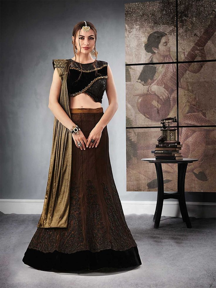 Shop latest collection of brown color designer partywear lehenga choli online for girls available on ZaraaFab. Grab now our exclusive party lehengas and designer ghagra cholis online in awesome designs.  #brownlehengacholi #designerlehenga #partywearlehenga #ethnicwear #traditionallehenga #lehengacholionline #bridallehenga #shopping #occasionwear #indianwear #elegantpartylook #bollywood #beautiful #dress #UK #USA #AUSTRALIA #CANADA #indowestern #weddingwear