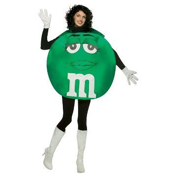 M&M's Green Poncho Adult Costume Green - One Size Fits Most