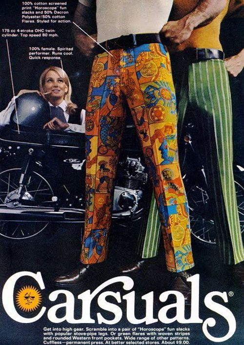 I don't even know what to say about these guys and those pants.