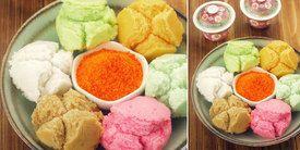 Vemale.com: Kue Mangkok Mekar Warna-Warni