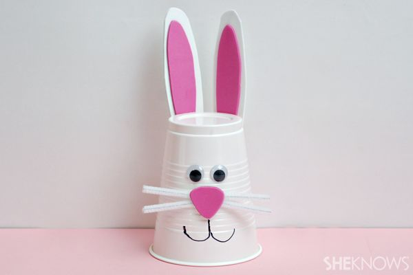 Cute easter activity for kids. Mak your own bunny