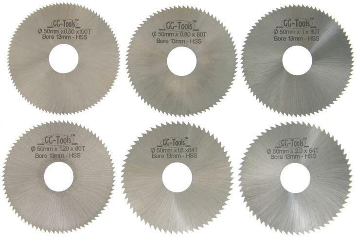 40296 GG-Tools  HSS Kreissägeblätter 50mm 6 Stück Sägeblatt Scheibenfräser    eBay