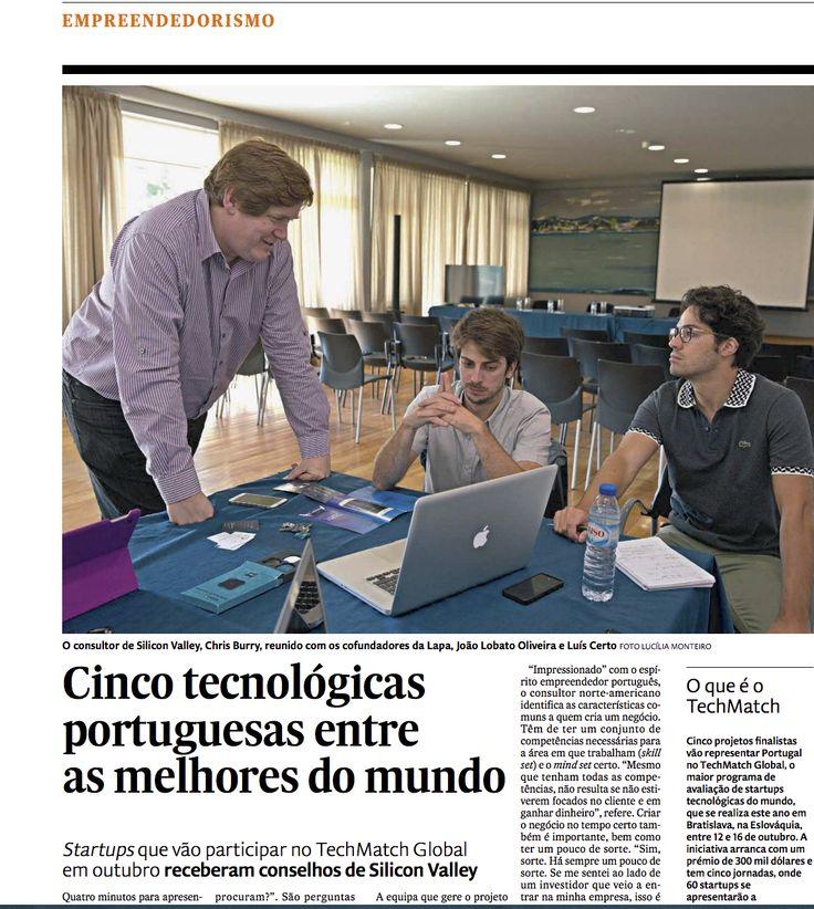 Notícia no Expresso sobre a participação da Facestore no TechMatch