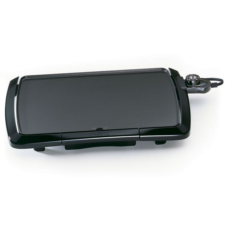 Presto Cool Touch Electric Griddle, Black