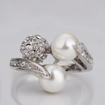 Captured Pearls 18 Karat Gold Plated Ring