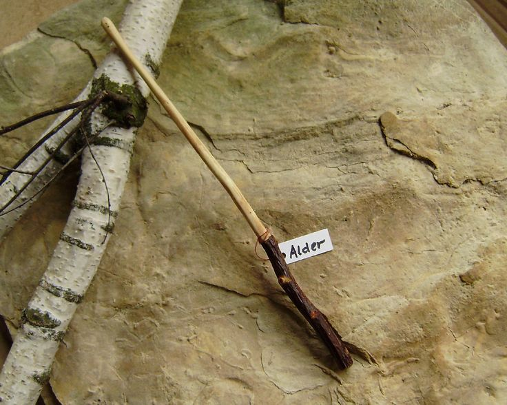 Alder wand magic wand hand carved wand witches wand for Harry potter elm wand