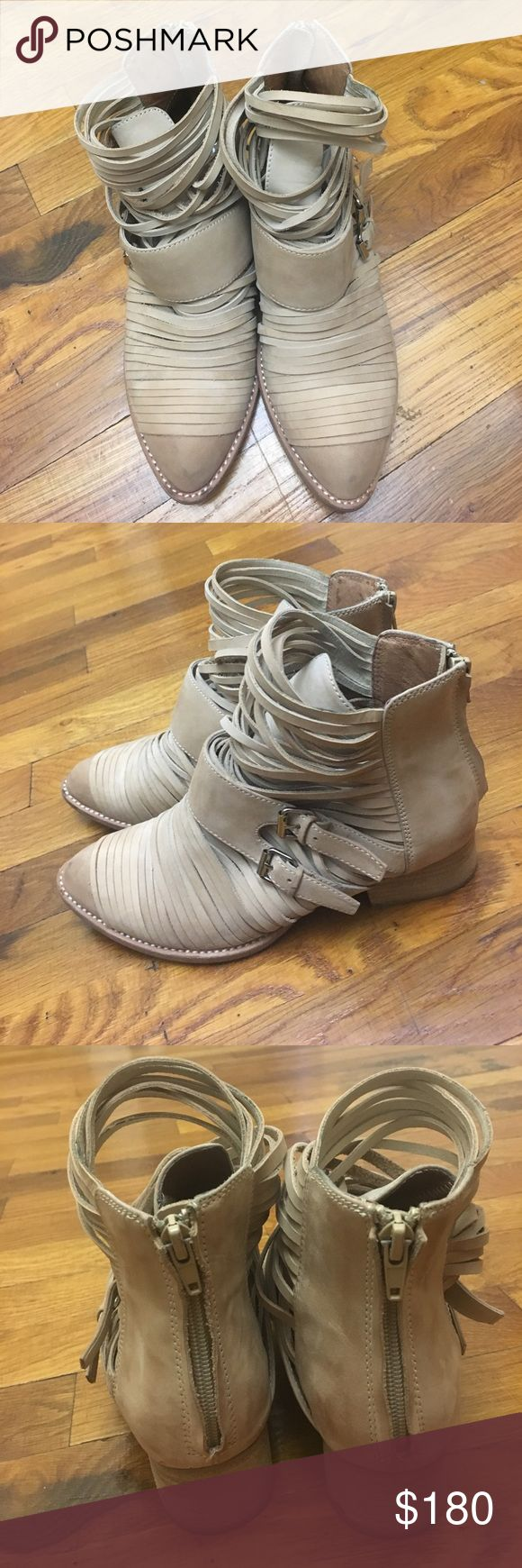 Jeffrey Campbell beige boots 8.5 Worn twice Retail $265 plus tax. Please send reasonable offers Jeffrey Campbell Shoes Ankle Boots & Booties