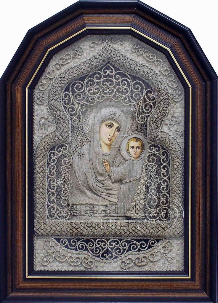 iconos ortodoxos de lino de Vladimir Denschikova