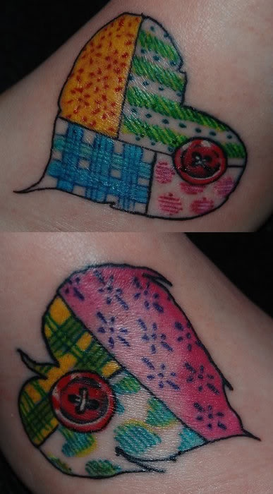 HAHAHAHAHAHAHA!!! NEVER thought I would find a tattoo I have like this..lol..oh I'm cryin! Different colors but SAME THING