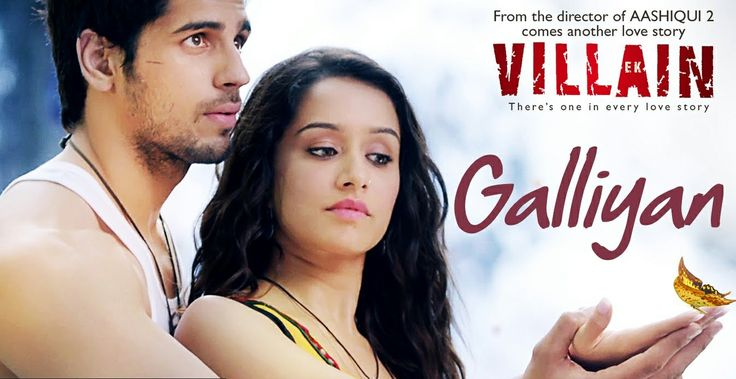 "First song released Galliyan  of new upcoming movie ""Ek Villain"" ."